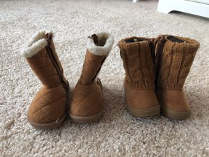 Toddler girl size 3 boots for Sale in Gaithersburg, MD