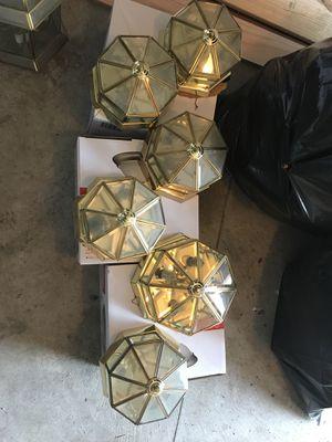 Full house light set (9 lights)plus ceiling fan for Sale in Hampton, VA