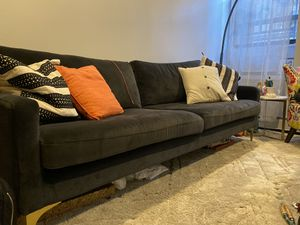 Slate gray West Elm couch for Sale in Brooklyn, NY