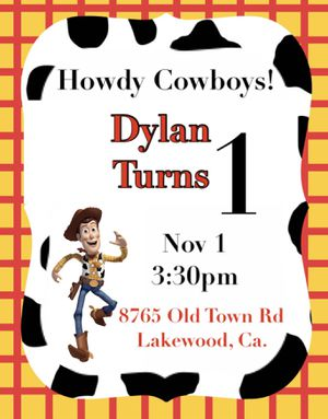 Toy story birthday party invitations for Sale in Norwalk, CA