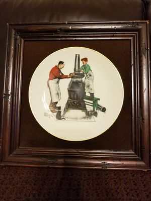 Norman Rockwell mounted plates, beautiful frames. 16 3/4 × 16 3/4. Not sure of age, I acquired them 34 years ago for Sale in Bartlesville, OK
