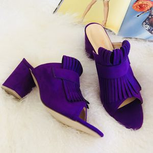 Size11 Brand New Chic Open Toe Mule Fringed Summer Sandal for Sale in Las Vegas, NV