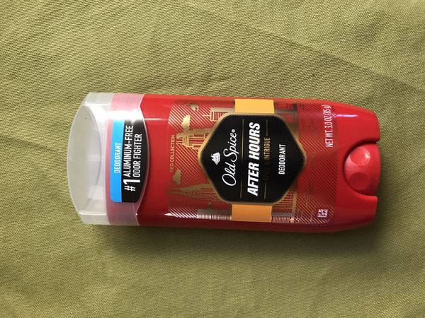 Old spice after hours deodorant