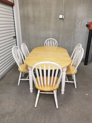 Beautiful Farmhouse solid wood dining table and chairs set for Sale in Greensboro, NC
