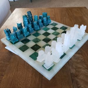 Handmade Chess Set Made Of Natural Onyx for Sale in Chandler, AZ