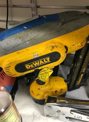 Dewalt finish nail gun for Sale in Washington, DC