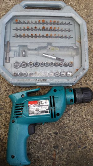 Makita drill and bits for Sale in Salem, OR