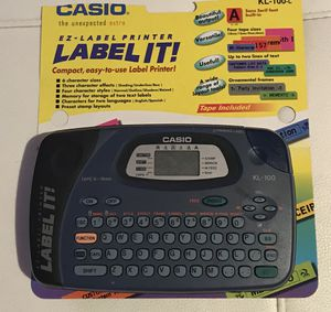 Casio EZ label printer for Sale in St. Louis, MO