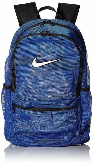 Nike Brasilia Mesh Backpack Transparent School Bag Blue/Black NEW for Sale in Concord, NC