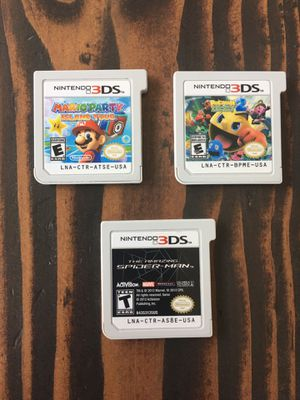 Nintendo 3DS Games - Mario Party Pac-Man Spider-Man for Sale in Brentwood, CA