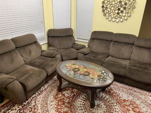 Brown Sofas with table for Sale in Fremont, CA