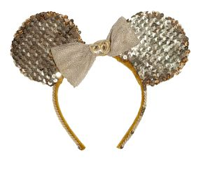 Mickey ears, 50th Mickey ears, gold sequins for Sale in Ontario, CA