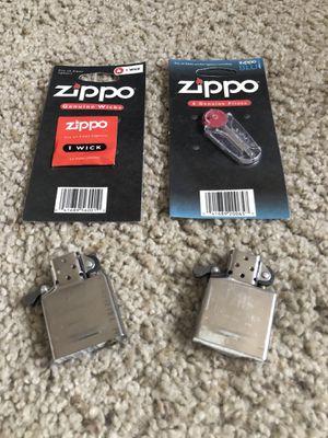 2 Zippo Lighters, 6 Flints, and 1 extra Wick. for Sale in Walnut Creek, CA