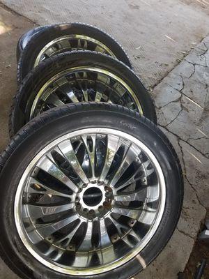 22 rims. 6 lug Chevy No caps for Sale in Clovis, CA