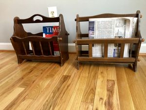 WOODEN MAGAZINE / NEWSPAPER RACKS for Sale in Fairfax, VA