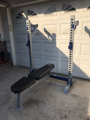 Weight Bench Press/ Squat Rack for Sale in Fountain Valley, CA