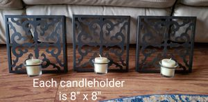 Bronze metal wall art/Wall candle holders! for Sale in Woodridge, IL