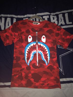 Bape Color Camo Shark Tee Red (Small) for Sale in San Diego, CA