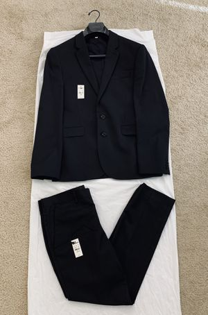 Express Mens Extra Slim Fit Suit in Black (38S Jacket & 30x30 Pant) for Sale in Falls Church, VA