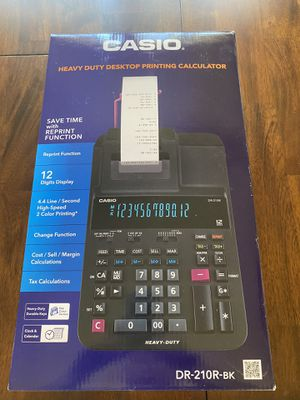 Brand new Casio adding machine (calculator) with ribbon for Sale in Ault, CO