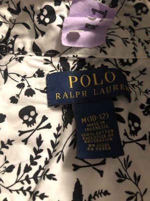 f2fa3ac33c1ed White and black skeleton head Polo Ralph Lauren button down for Sale in  Jacksonville