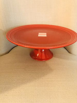 Pretty 12 in diameter red cake stand. Beautiful on your kitchen counter. for Sale in Pembroke Pines, FL
