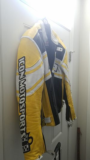Icon Motorsports Leather Motorcycle Jacket for Sale in Hanover, MD