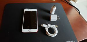 iPhone 7 Red 128 GB Unlocked W/ charger set for Sale in Quincy, MA