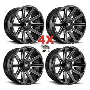 "20"" FUEL CONTRA D615 RIMS 20X9 6X139.7 6X135 GLOSS BLACK for Sale in Cerritos, CA"