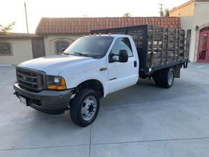 2001 Ford F450 7.3 diesel 12 foot flatbed truck with lift gate only 76,000 original miles runs excellent for Sale in South El Monte, CA