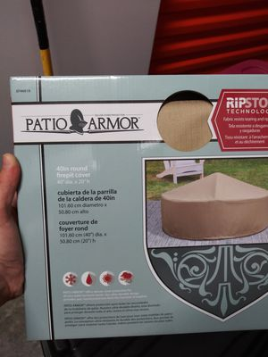 "40"" Round Firepit Cover Patio Armor with Ripstop Technology for Sale in West Palm Beach, FL"