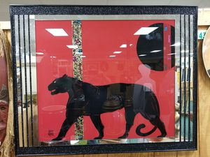 est 5ft by 5ft Blank Panther Glass Picture for Sale in Hampton, VA