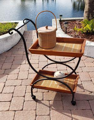 Serving cart bar cart tea cart for Sale in NEW PRT RCHY, FL