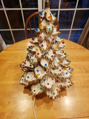 Vintage Ceramic Christmas tree with lights for Sale in Lake Shore, MD