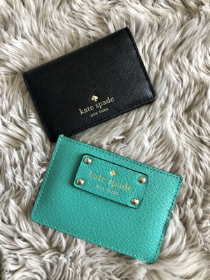 Authentic KATE SPADE Card Wallets (Both for $45 or one for $25) for Sale in Stockton, CA