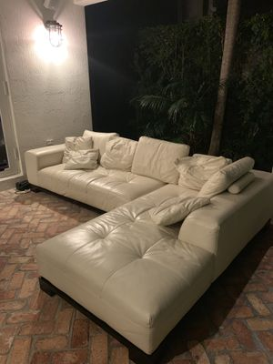 Leather Sectional - was $5,500 Retail for $1000 for Sale in Miami, FL