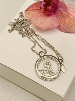 Beautiful 925 sterling silver locket with charms for Sale in Los Angeles, CA