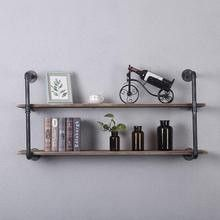 WH Industrial Pipe Shelving Wall Mounted,48in Rustic Metal Floating Shelves,Steampunk Real Wood Book Shelves for Sale in Ontario, CA