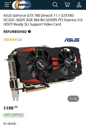 ASUS GTX780 Graphics card for Sale in Azusa, CA