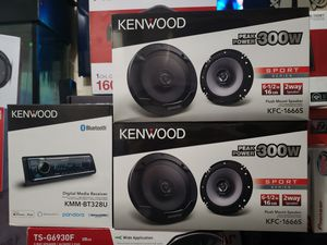 Kenwood speakers package with Kenwood stereo brand new for Sale in City of Industry, CA