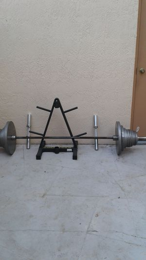 Olympic weight set for Sale in Hudson, FL