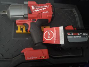 """Milwaukee M18 High Torque Impact Wrench 3/4"""" Friction Ring + 12.0AH Battery for Sale in Portland, OR"""
