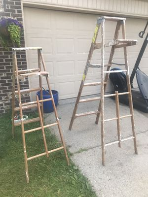 Ladder. 2 paint wood ladders for Sale in Canton, MI