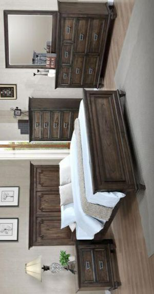 👎$39 DOWN👎Campbell Brown Panel Bedroom Set byCrown Mark for Sale in Jessup, MD