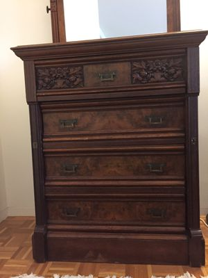 Antique dresser with mirror for Sale in Boston, MA