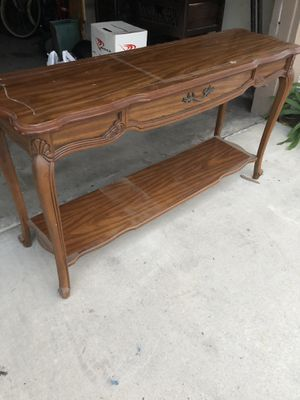 50 x 14 x 27 vintage coffee table for Sale in Huntington Beach, CA