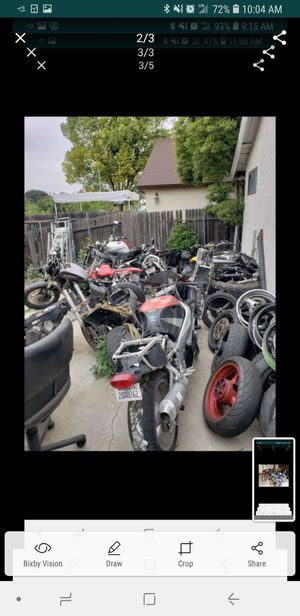 Parting out many motorcycles parts part out gsxr cbr zx6r ninja 636 r6 r1 yzf yfz fz6 fz1 fz8 fz9 r3 for Sale in Bloomington, CA