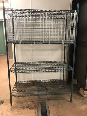 "Shelf Green Metal shelving with storage, 48"" Wx24""Dx72""H for Sale in Palmetto Bay, FL"