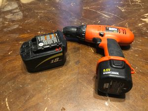 Skil 18v battery only + Black&Decker 9.6V Drill with battery for Sale in Saint FRANCISVLE, LA