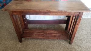 Solid rustic wood sofa table for Sale in Ceres, CA